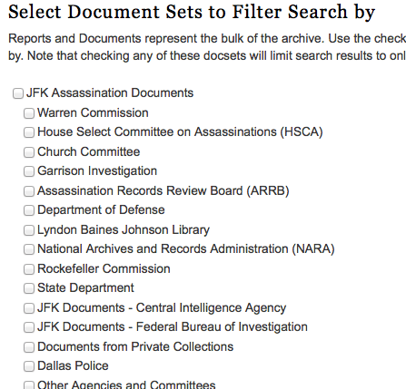 search document sets