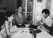 Cuban government official Rolando Cubela, code-named AMLASH (center), recruited by the CIA in the fall of 1963 to assassinate Fidel Castro.