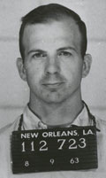 Lee Oswald's New Orleans arrest photo.