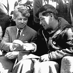 Robert Kennedy with Cesar Chavez