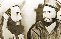 Rolando Cubela with Fidel Castro in 1959.