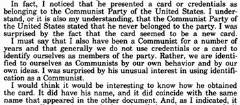 The Cuban consuls were stunned by Oswald's Communist Party card
