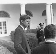 President Kennedy,<br />24 Oct 1961.<br />Photo by Cecil Stoughton.