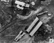 Low-level photograph of nuclear missile construction site at San Cristobal, Cuba, 25 Oct 1962.